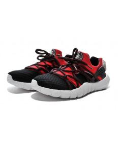 Nike Air Huarache herren rote und schwarze sneakers