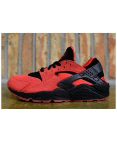 Nike Air Huarache Licht rote und schwarze schuhe für Herren