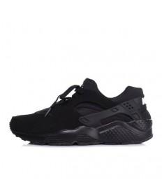 Nike Air Huarache Dreibettzimmer alle schwarzen schuhe