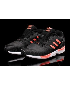 Adidas ZX FLUX für Herren Gewebe schwarz / hellrosa sneakers