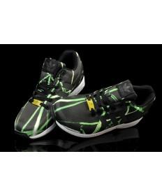 Adidas ZX Flux für Herren Beleuchtung schwarz / grün schuhe