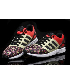 Adidas ZX FLUX Trainersneakers beige / orange / schwarz / bunt Kleeblätter