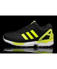 Adidas ZX FLUX herren schwarz / Fluogrün schuhe