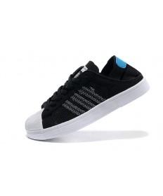 Adidas Superstar Breathe Herren schwarz / weiß / hellblau Trainersneakers