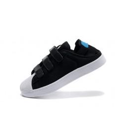 Adidas Superstar Sommer Herren schwarz Breathe / skyblau / weiße sneakers