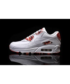 Nike Air Max 90 QS WMNS London weiß-rot paintdamen Trainer schuhe