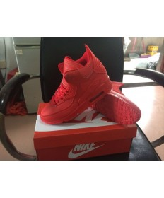 Nike Air Max 90 Hightop roten Trainern