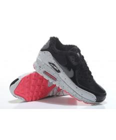 Nike Air Max 90-Pelz-schuhe schwarz-grau