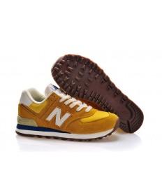 New Balance 574 Trainer schuhe Gelb, Weiß + Teal für herren