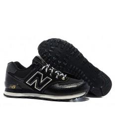 New Balance 574 herren schwarze sneakers schuhe