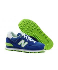574 New Balance Blau, Grün + Weiß Trainer schuhe für damen