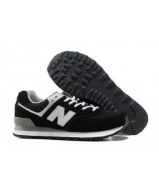 574 New Balance Schwarz, Weiß schuhe für damen
