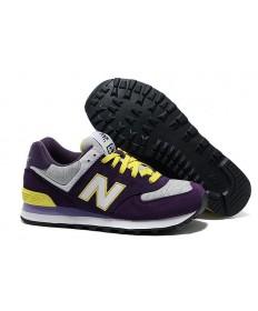 574 New Balance Lila, Weiß + Gelb Trainer schuhe für damen