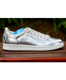 Adidas Stan Smith Luxus Silberfarbe Trainer schuhe
