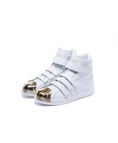 Adidas Superstar 80s Trainer weiß / gold