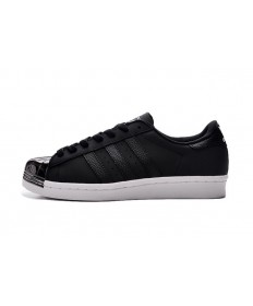 Adidas Superstar 80er Metal Toe sneakers schwarz / silber