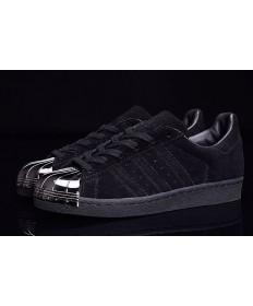 Adidas Superstar 80er Metal Toe schwarz / silber-Trainer-schuhe