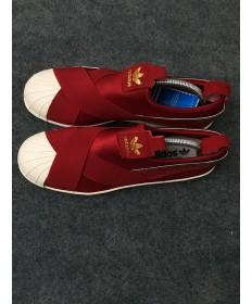 Adidas Superstar SLIP ON rot / beige sneakers