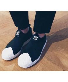 Adidas Superstar SLIP AUF schwarz / weiße sneakers