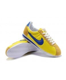 Nike Classic Cortez Nylon Herren Vintage-Gelb-Blau Trainersneakers