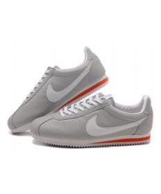 Nike Classic Cortez Leder 09 Herren Grau Weiß Rot Trainersneakers