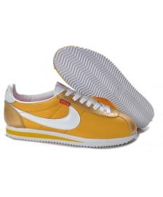 Nike Classic Cortez Nylon Gelb Goldene einzigartige Trainer-schuhe für Herren