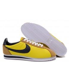 Nike Classic Cortez Nylon Gelb Khaki Schwarz Trainer sneakers für Herren
