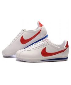Nike Classic Cortez Leder 09 Trainer Weiß Rot Blau für damen