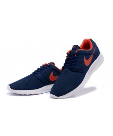 Nike Roshe Run herren Midnightblau / orange-rot-Trainer-schuhe