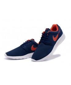 Nike Roshe Run herren Midnightblau / orange-rot-Trainer-schuhe