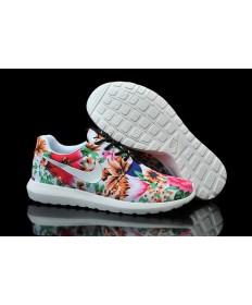 Nike Roshe Run Weiß / Blumen muster der damen schuhe Trainer