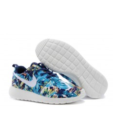 Nike Roshe Run Air 3M Trainer Sea blau / Deep blau / Weiß