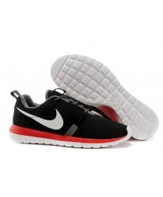 Nike Roshe Run NM BR 3M Suede herren Schwarz / Dim grau / weiß / orange-rot-Trainer-schuhe