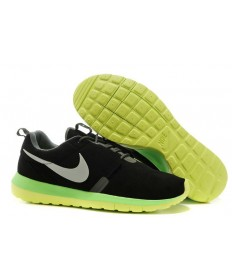 Nike Roshe Run NM BR 3M Suede herren schwarz / Neongelbe Trainer