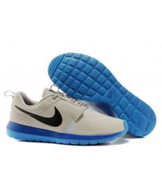 Nike Roshe Run NM BR 3M Suede herren Grau Basis / Schwarz / Sport Blau / Spiel Saphir sneakers