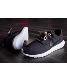 Nike Roshe Run NM BR 3M Suede Schwarz / Weiß Trainer sneakers für Herren