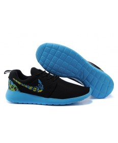 Nike Roshe Run Trainer sneakers Lovers Schwarz / Dodger blau