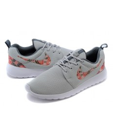 Nike Roshe Run sneakers Lovers Grau / orange-rote Blume