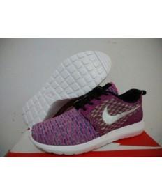 Nike Flyknit Roshe Run sneakers Lila / Rosa / Weiß für damen