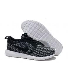 Nike Flyknit Roshe Run Herren Lovers Schwarz / Grau sneakers
