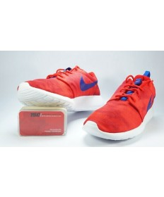 Nike Roshe Run orange-rot / Royal blau Trainer