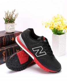 New Balance 574 Revlite schwarz rote sneakers Trainer