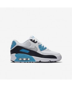 Nike Air Max 90 Mesh-Trainer schuhe Segel / Schwarz / Blau Lagoon / Neutral Grey