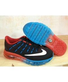 Nike Air Max 2016 Trainer schuhe schwarz / orange-rot / weiß / blau Dodger für Herren