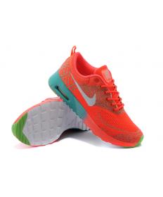 Nike Air Max Thea Trainer schuhe Orange-Rot / Grau / Grün für damen