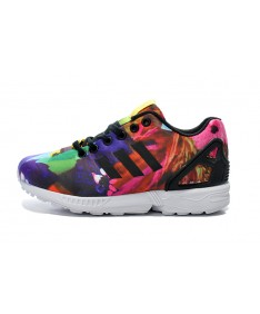 Adidas ZX FLUX damen Pfingstrose Graffiti Trainersneakers