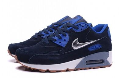 Nike Air Max 90 Midnight blau-royal blau-silberne sneakers