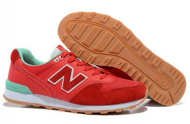 New Balance 996 Rot, New grün Trainersneakers der damen