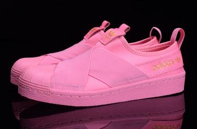 Adidas Superstar SLIP auf allen Rosa/ goldenen Trainersneakers