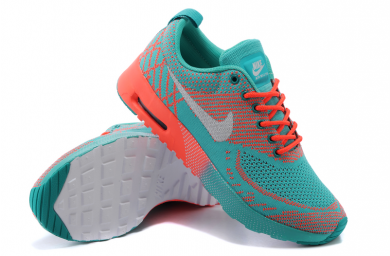 Nike Air Max schuhe dunkel Thea Cyan / Orange / Grau für damen